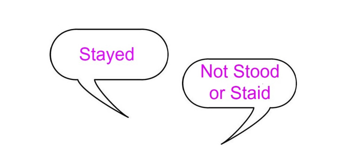 The past tense of stay is stayed.