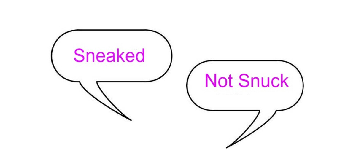 The past tense of sneak is sneaked.