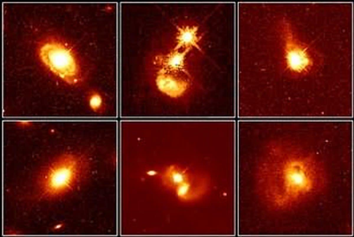 Several quasars imaged.