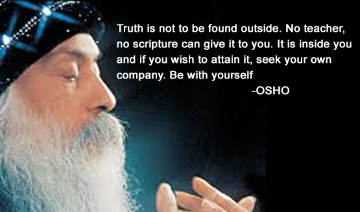 The type of quote Osho is known for today