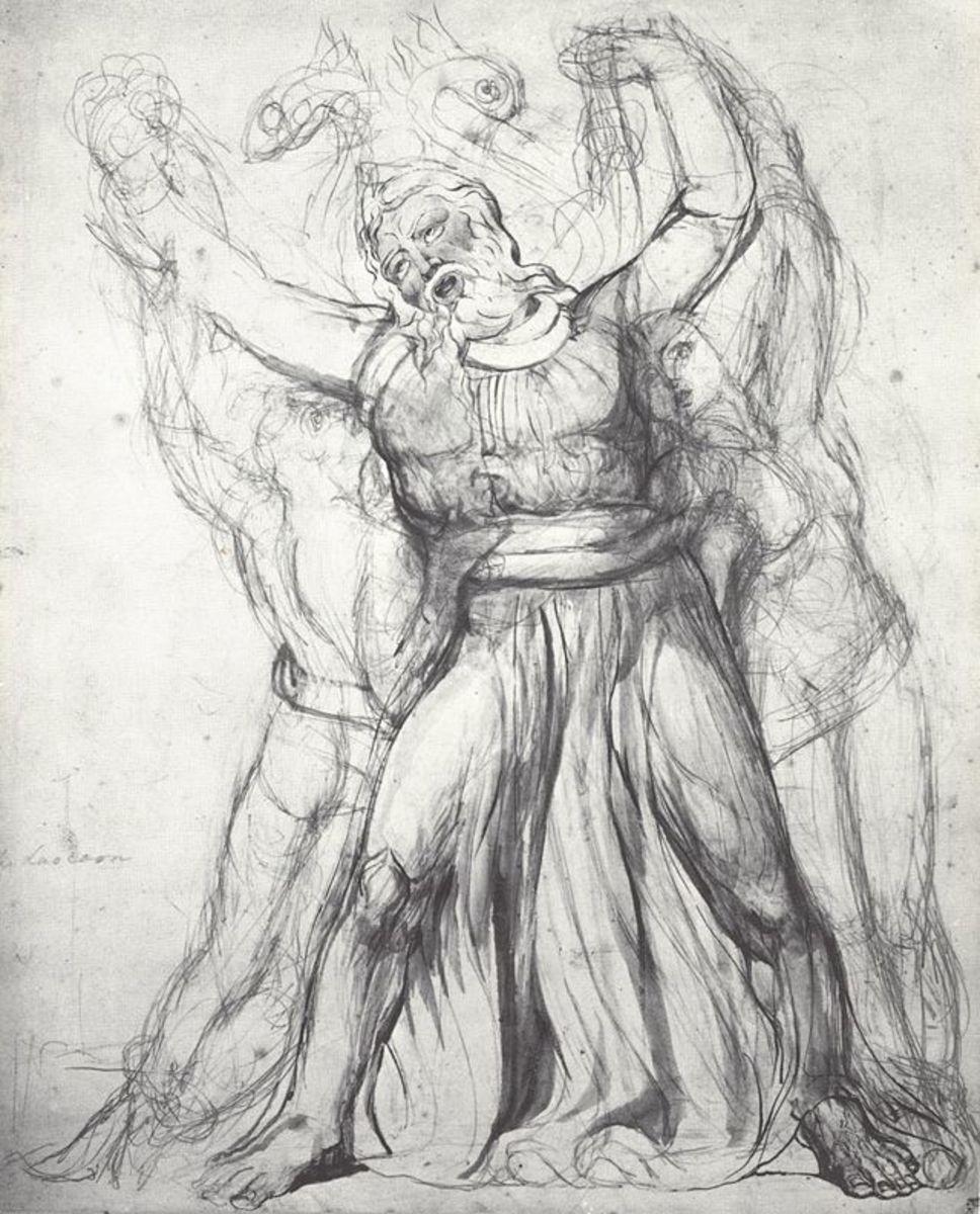William Blake Laocoon c1818