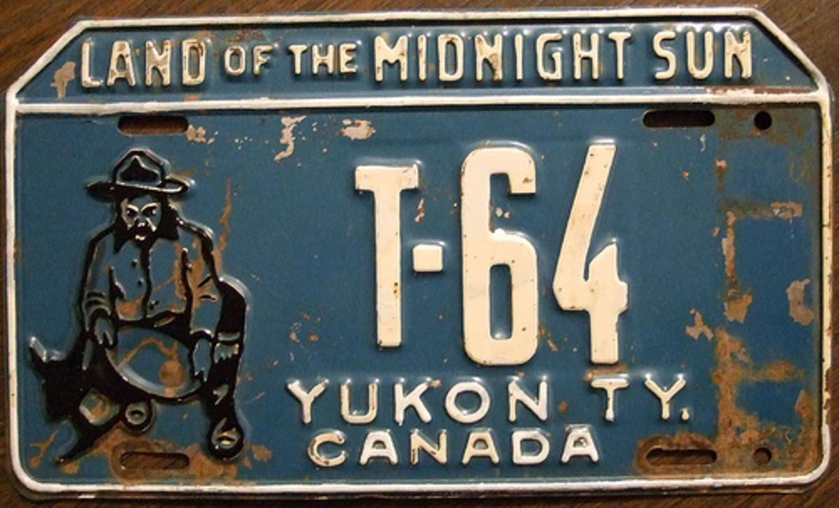 A 1953 Yukon Territory truck license plate.