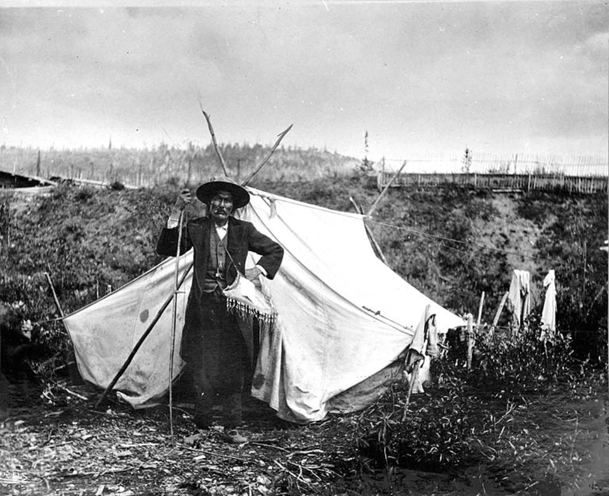 Chief Isaac of the Han People, Canadian Yukon.