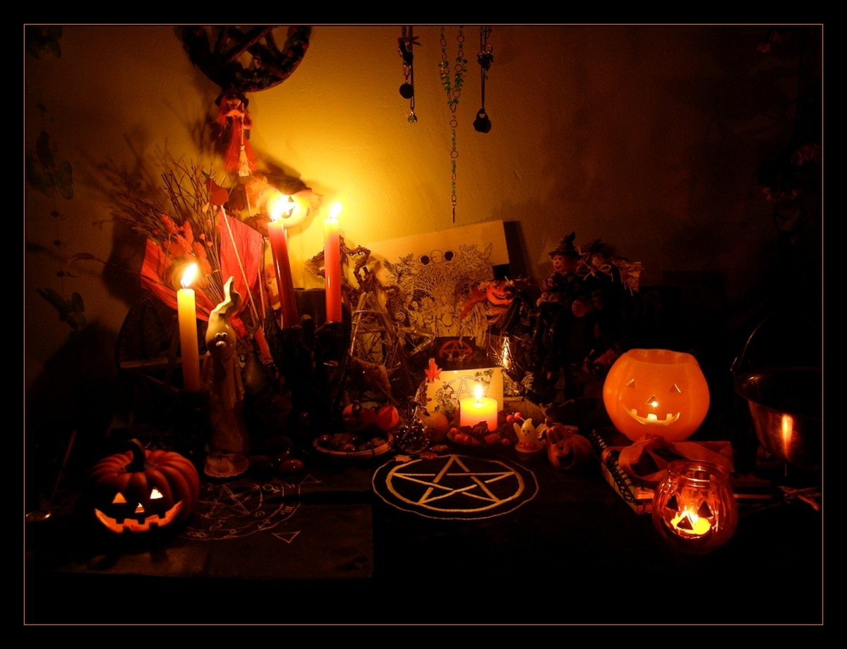 A modern Samhain altar