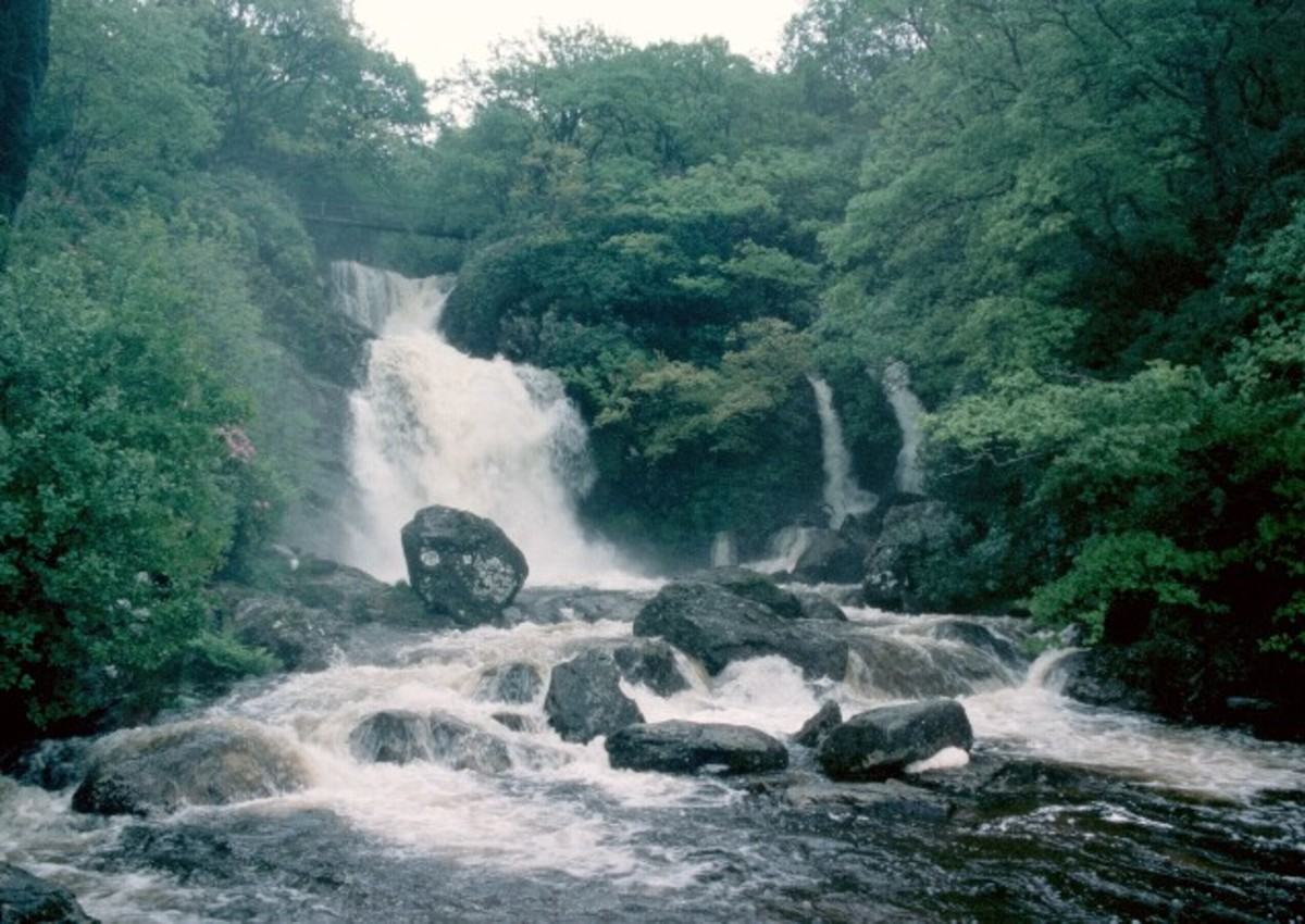 Inversnaid waterfall, inspiration for the poem.