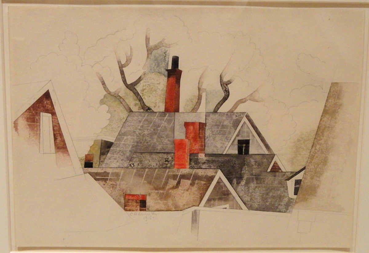 The Red Chimneys by Charles Demuth