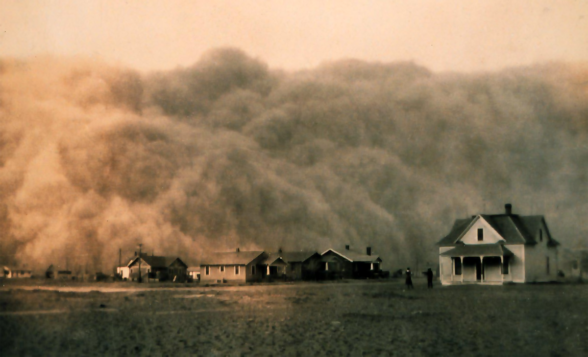 Dust storm in the 1930s