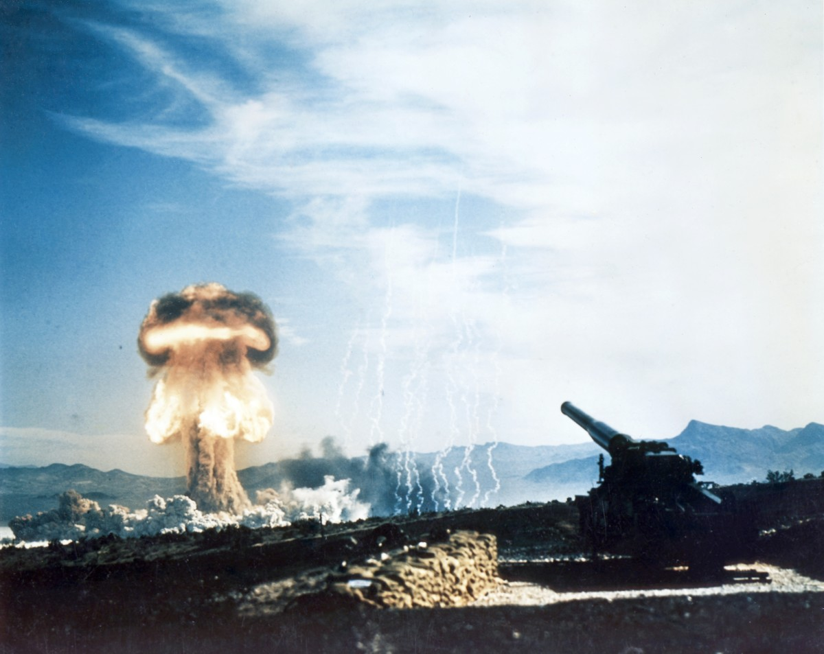 Exploding nuclear device at the Nevada Test Site