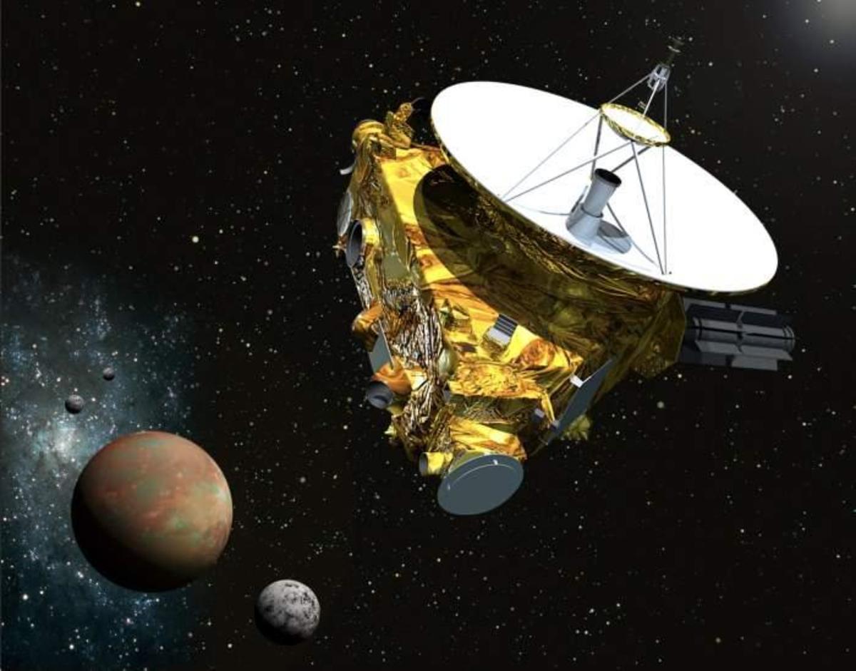 New Horizons approaching Pluto.