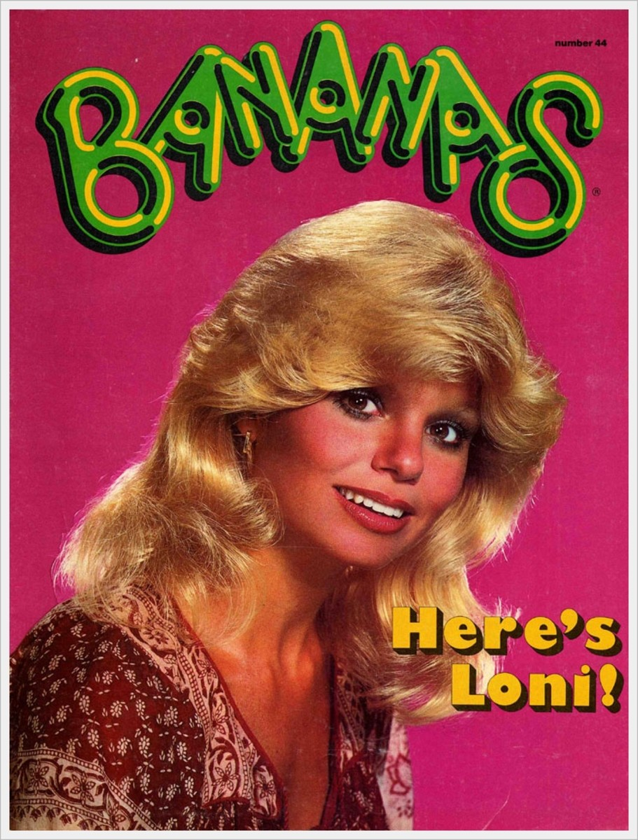 Issue #44 has a lovely color photo of Loni in the front cover