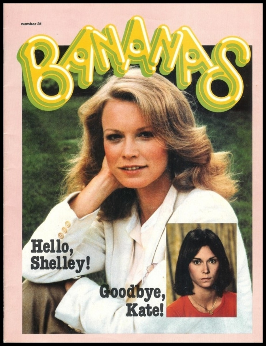 Shelley Hack on Bananas issue 31 from 1979. Also has articles on Jerry Lewis, Gil Gerard, Gary Coleman
