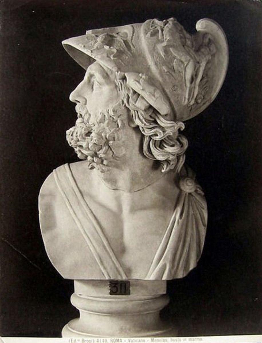 "Giacomo Brogi (1822-1881) - ""Rome (Vatican Museums) - Menelaus, marble bust"". Catalogue # 4140."