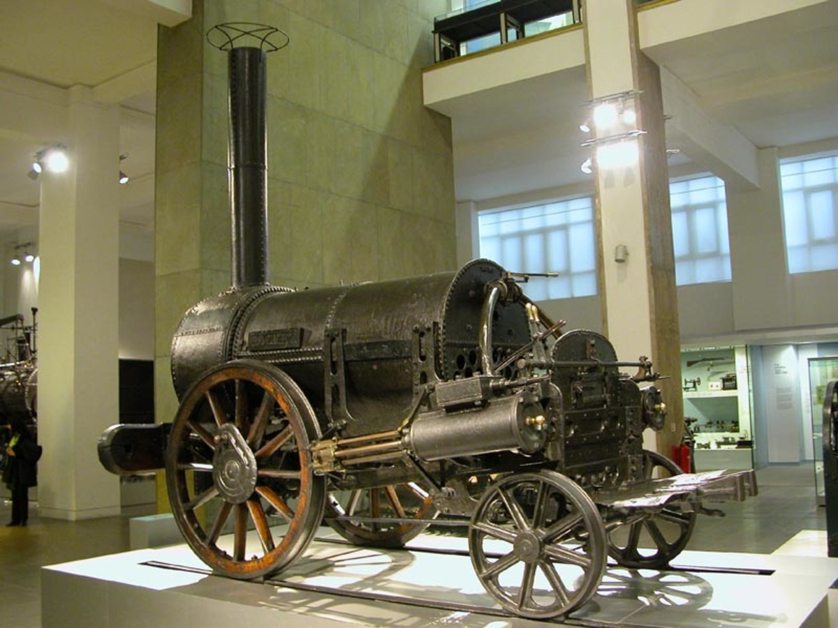 The invention of the steam engine and the railways made a big impact on travel and communication