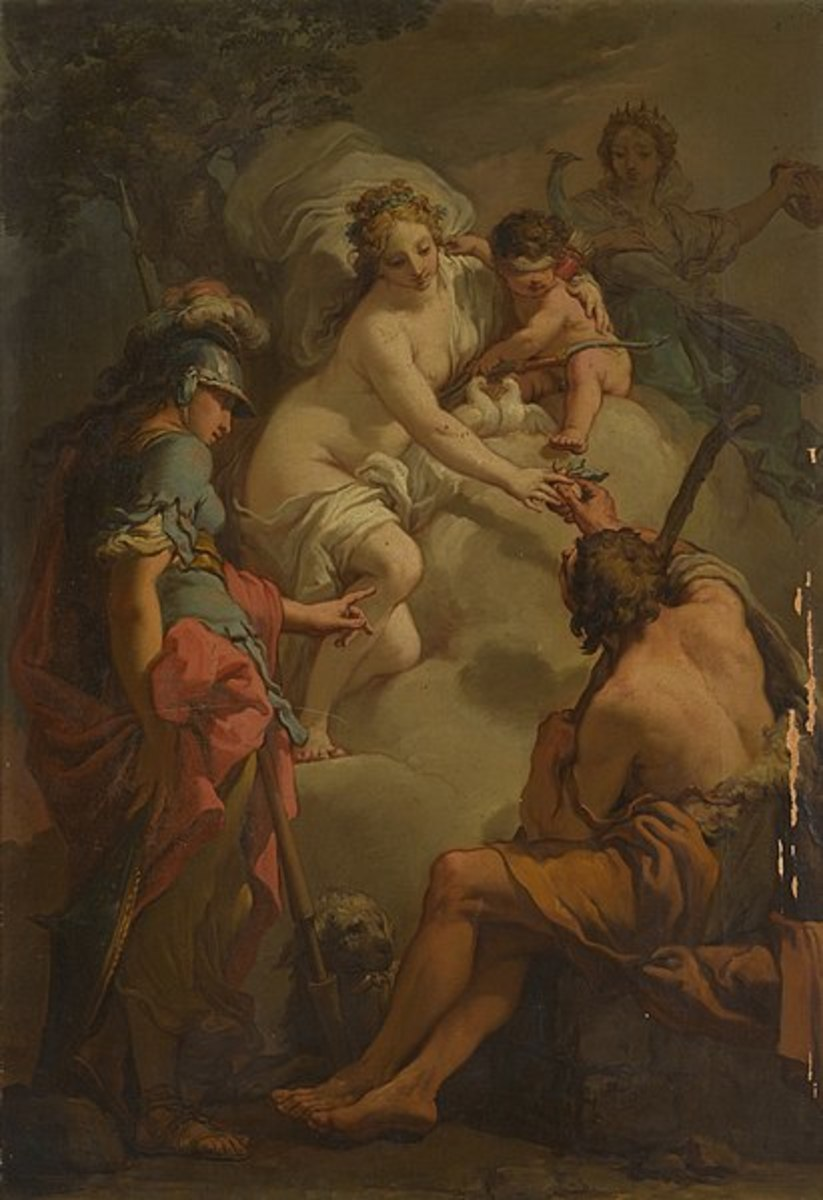 The Judgement of Paris -  Gaetano Gandolfi  (1734–1802) - PD-art-100