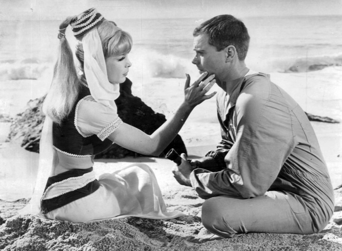 I Dream of Jeannie starring Larry Hagman and Barbara Eden debuted in 1965 until 1970.