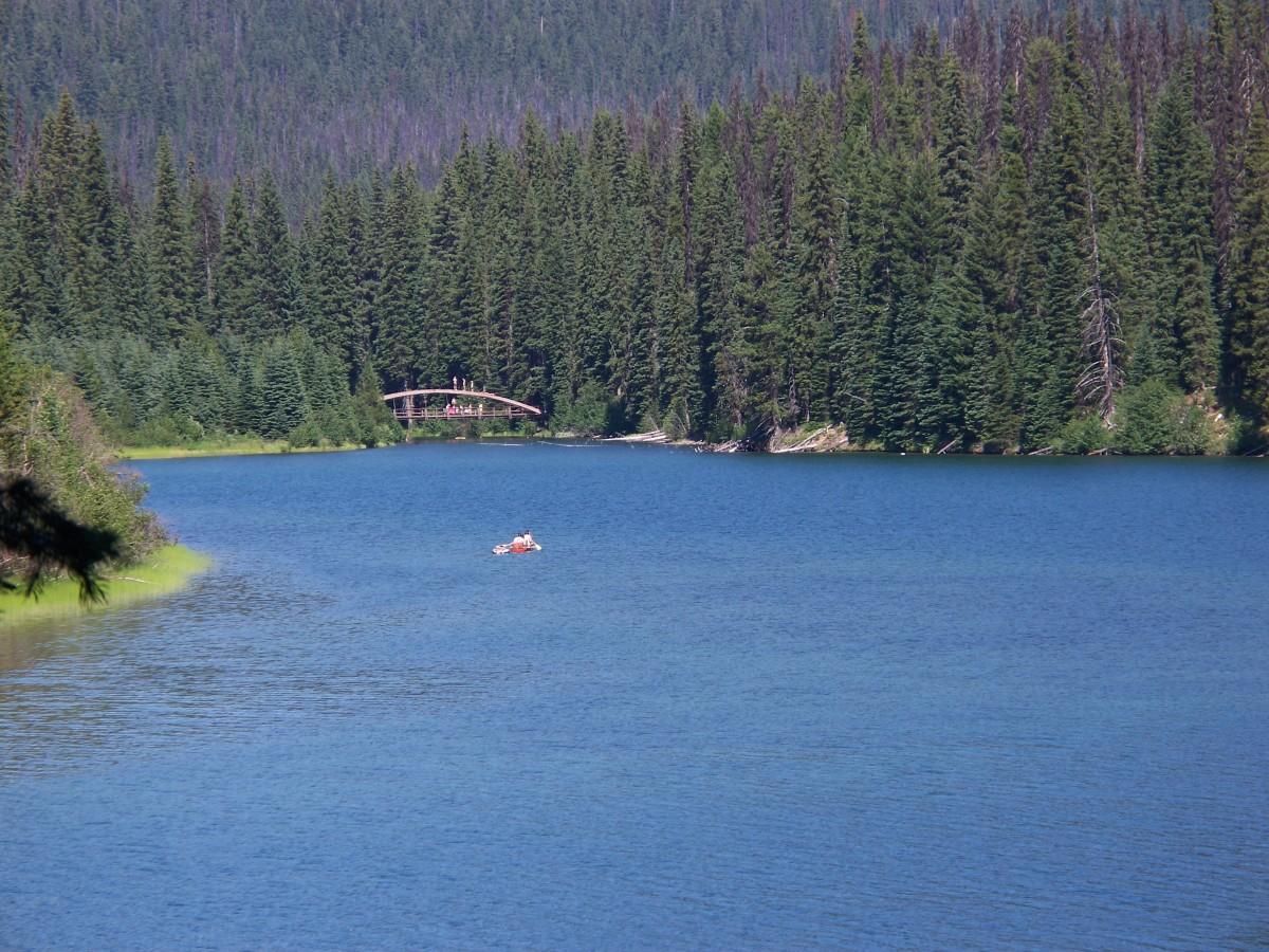 Part of Lightning Lake in Manning Park