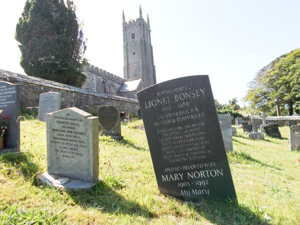 Mary Norton's grave is located at St. Nectan's Church in Devon, England