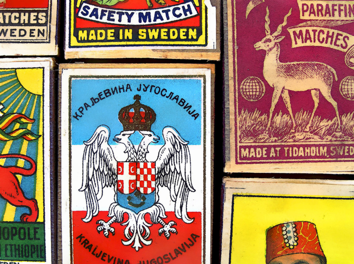 Matchboxes are made of thin wood or cardboard and often have attractive labels. The borrowers used them as drawers.
