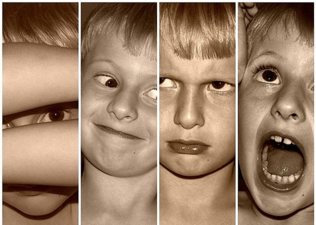 Children are excellent at expressing their emotions through facial expressions