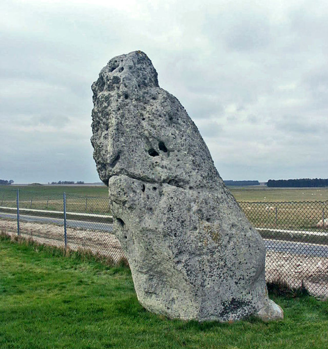 "The ""Heelstone"", also previously known as ""Friar's Heel,"" or ""Sun-Stone"", lies north east of the sarsen circle.  At summer solstice an observer standing within the stone circle, looking through the entrance, can see the Sun rise over the Heelstone."
