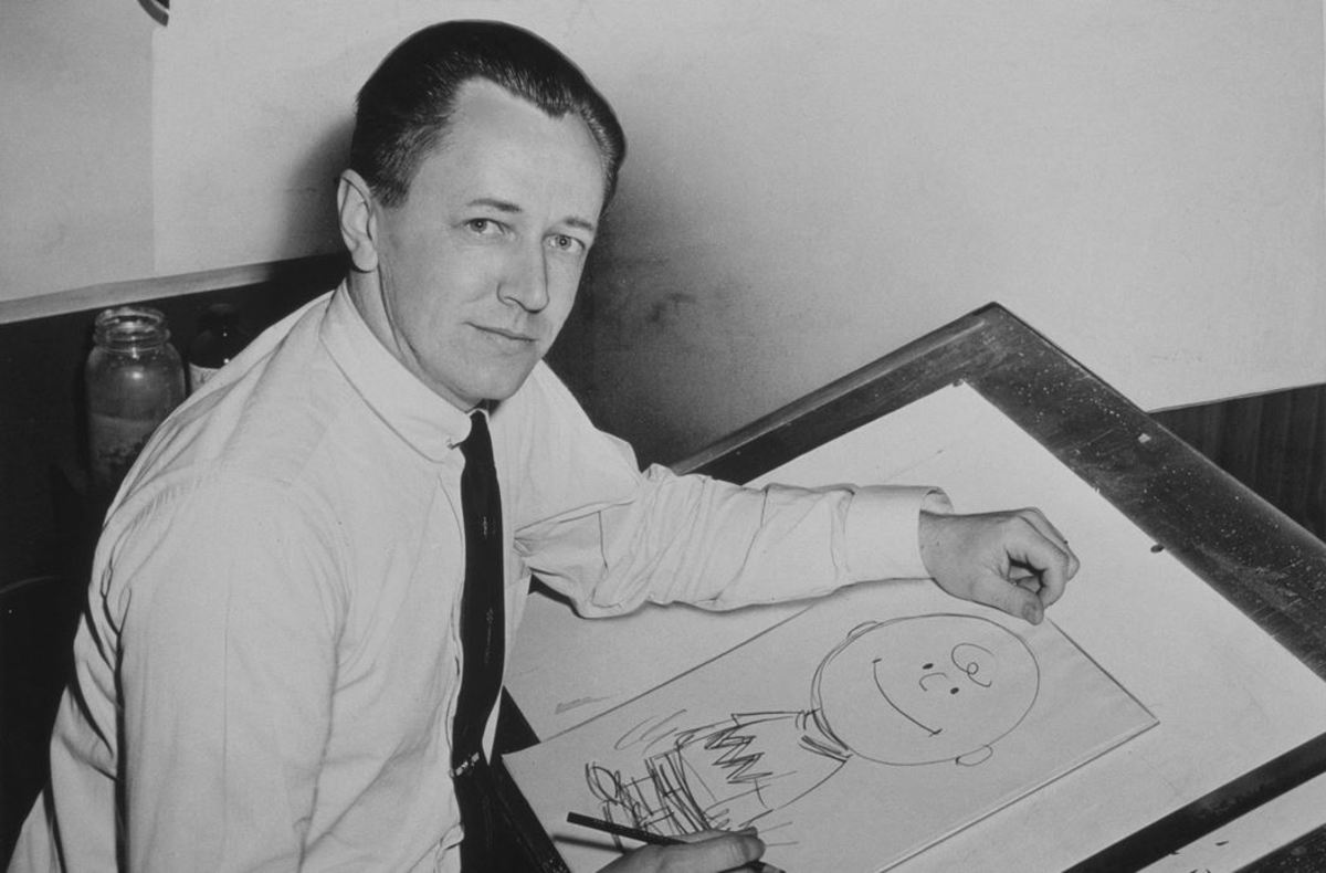 Peanuts creator Charles Schulz in 1956