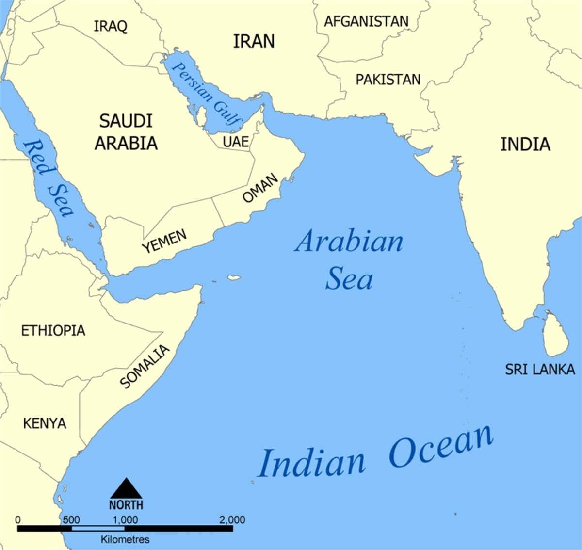Socotra Island is the small yellow spot in the middle left of this map. It's located in the Arabian Sea off the coast of Somalia, but it belongs to Yemen.