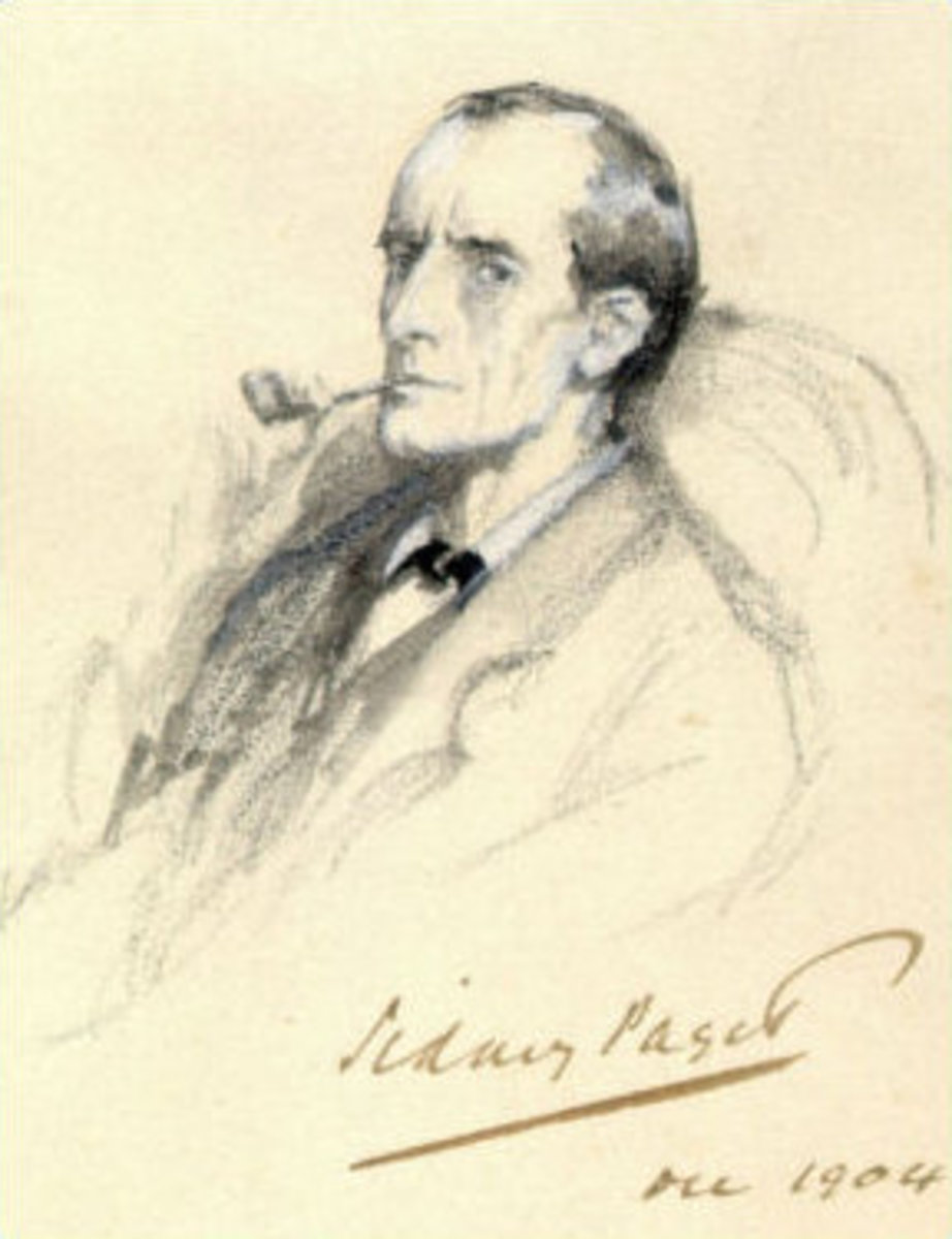 Sketch of Sherlock Holmes by Sidney Paget, 1904