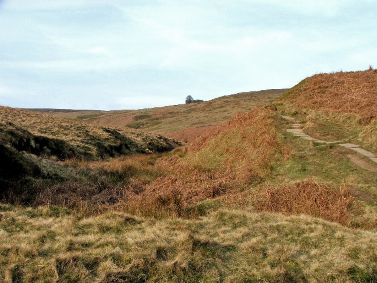 Top Withens, thought to have inspired the Earnshaw's home in Wuthering Heights