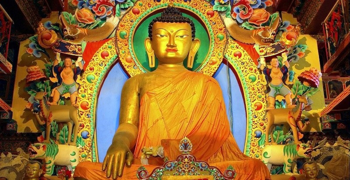 Thee are 488 million Buddhists in the world, 7% of the world's population.
