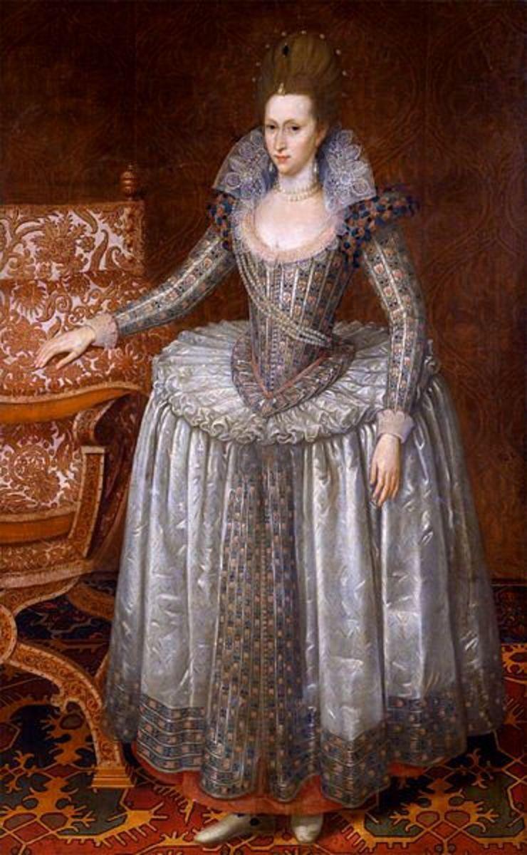 Portrait of Anne of Denmark in 1605