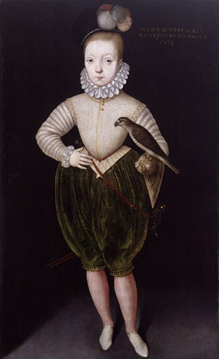 King James VI of Scotland as a young boy.