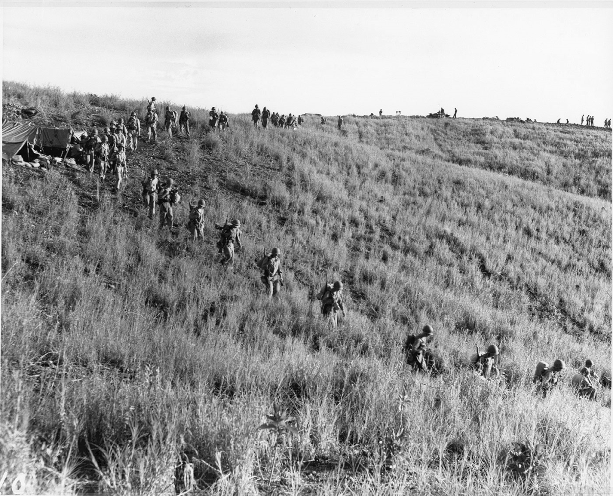 Bloody ridge where some of the most intense fighting took place during the battle for Guadalcanal.