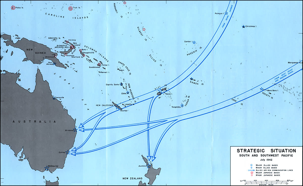 Allied Sea Lanes to Australia