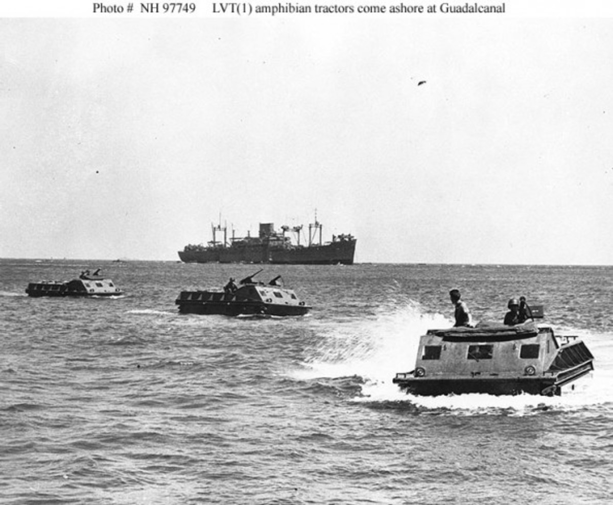 Amphibious landing craft used at Guadalcanal