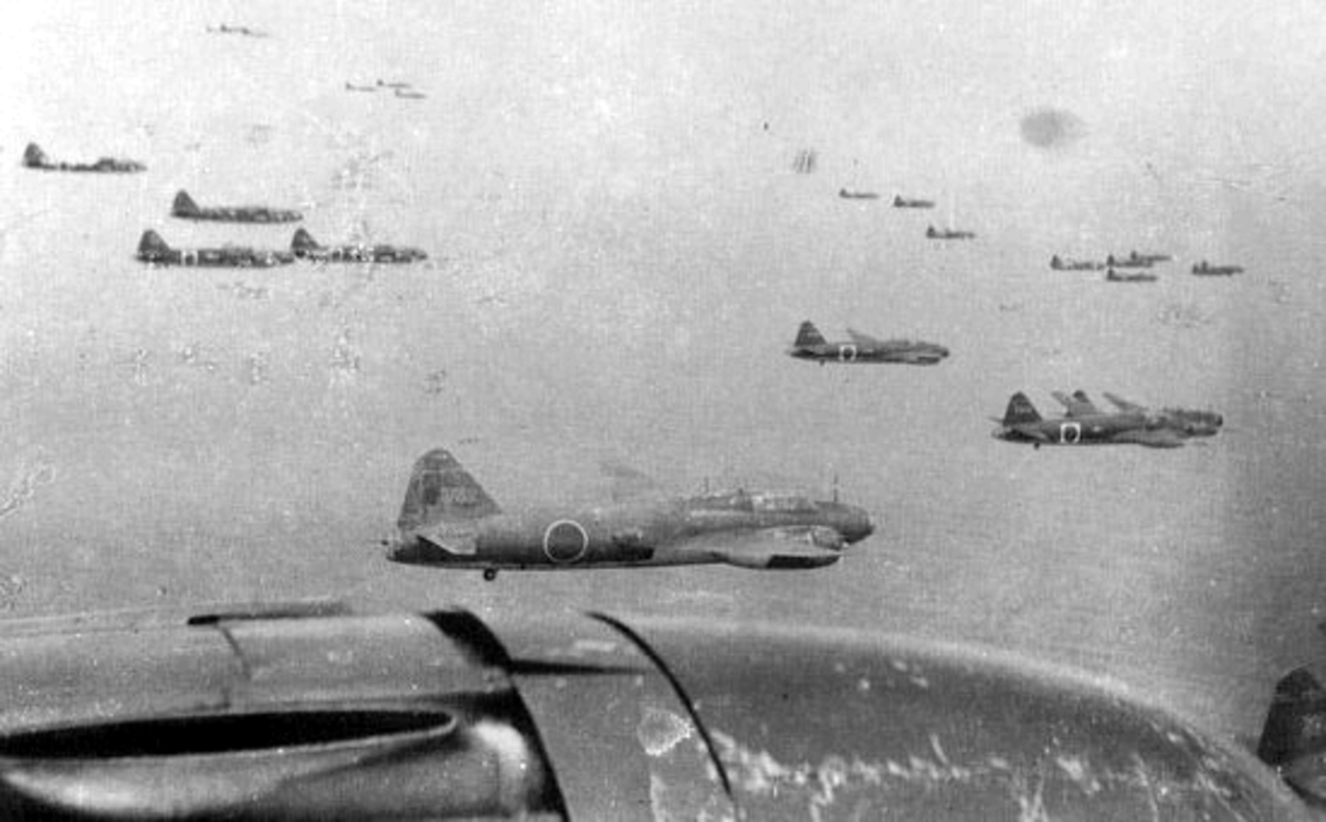 Japanese Bombers Attacking Henderson Field