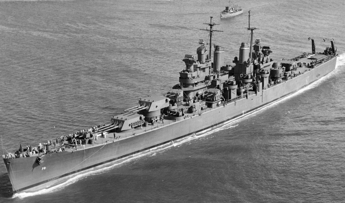 The Australian Flagship Canberra it would be the first major Allied naval ship to fall victim to Japanese naval actions around Guadalcanal.