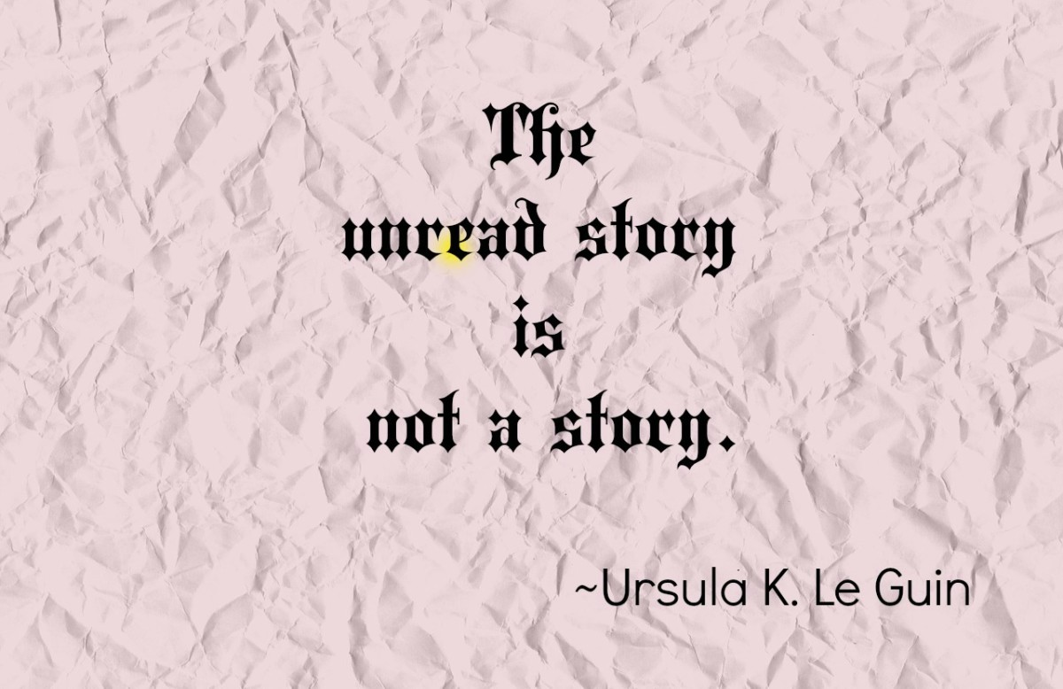 A quote about writing from Ursula Le Guin.