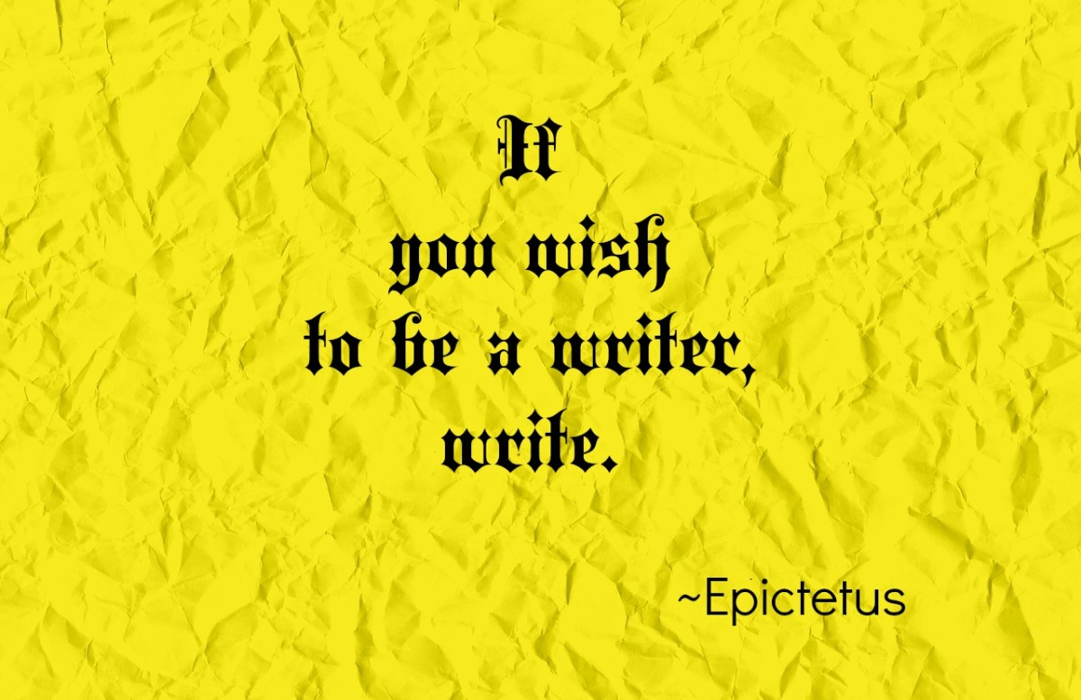 A quote about writing from Epictetus.