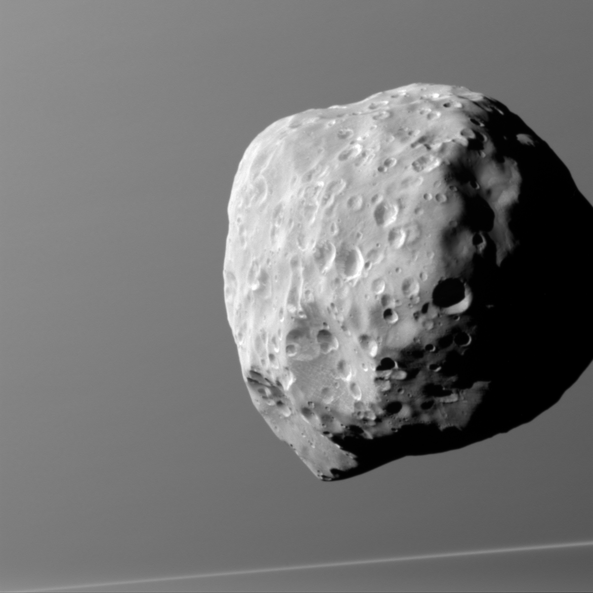 Epimetheus at 1,670 miles away, taken on Dec. 6, 2015.