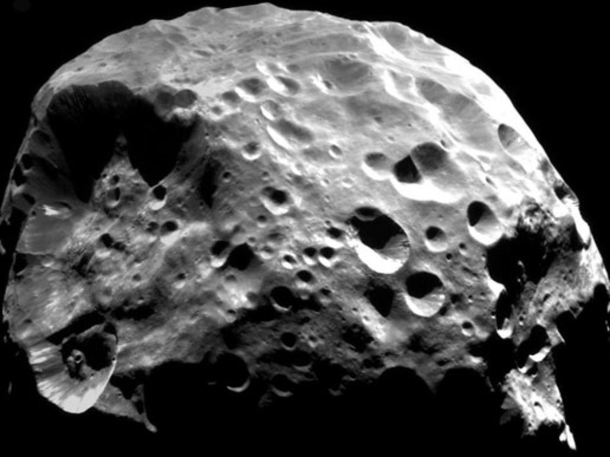Cassini's Discoveries on Phoebe, Hyperion, Dione, and Other Saturn Moons