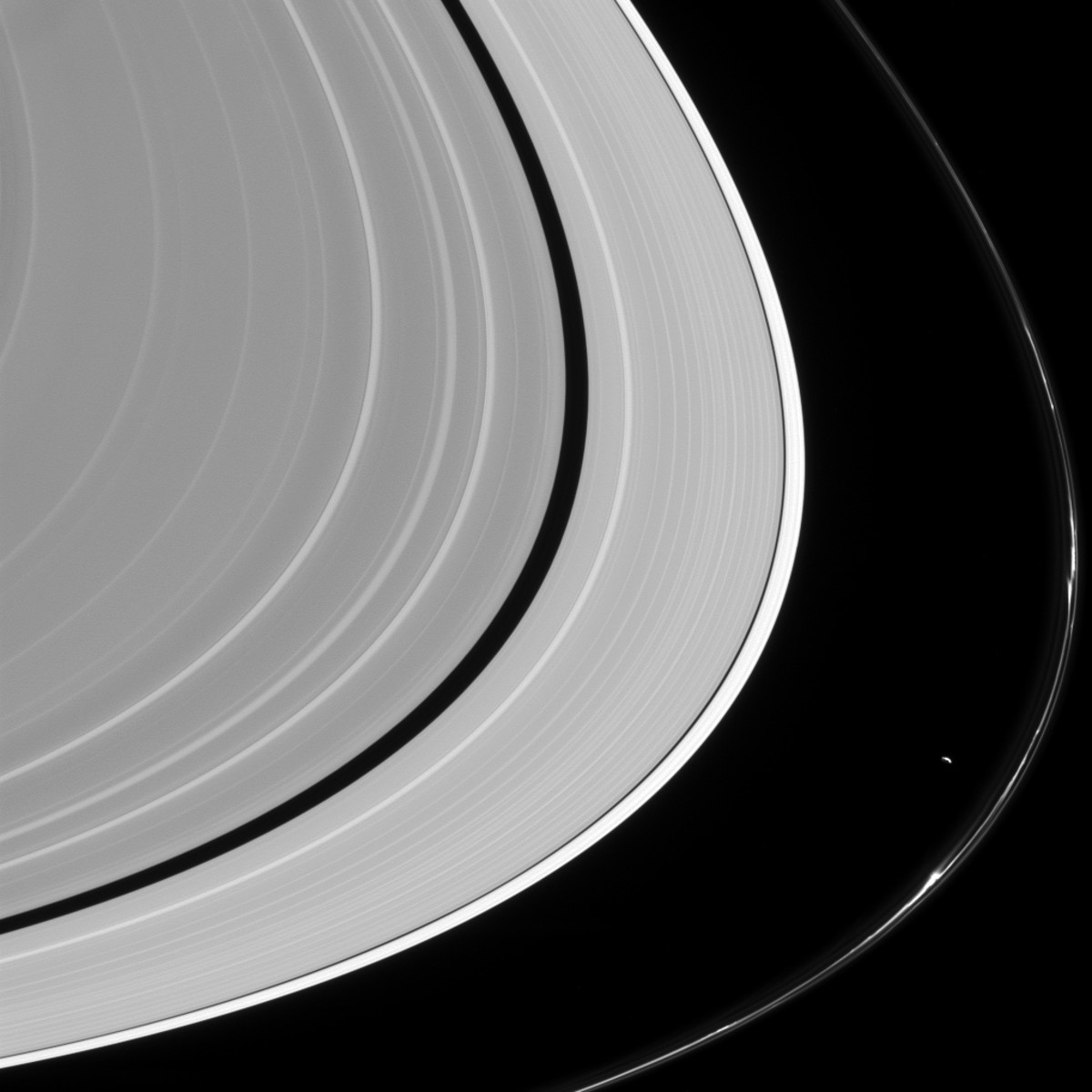 Prometheus pulling on the F ring.