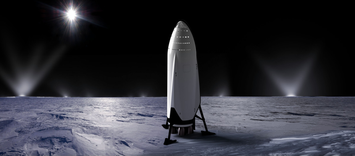 An artists impression of the ITS on the surface of Enceladus.