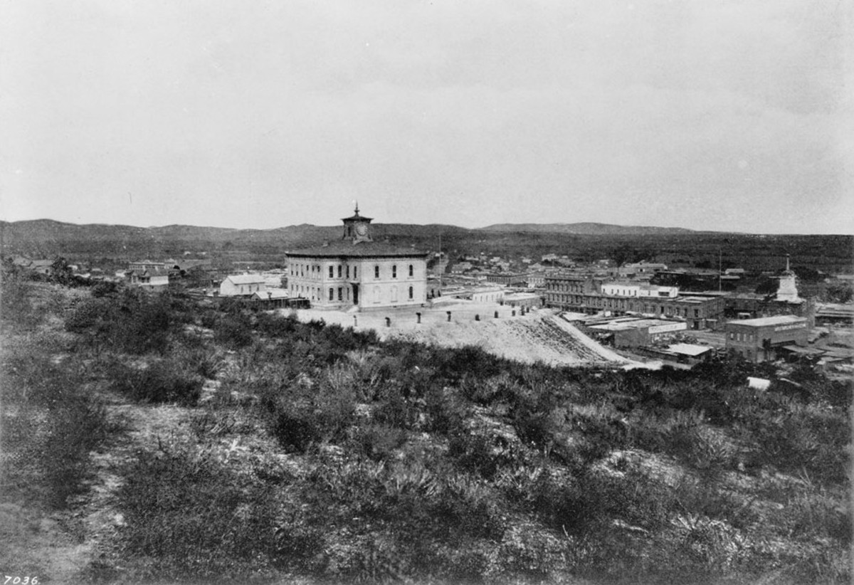 Fort Moore Hill , circa 1875
