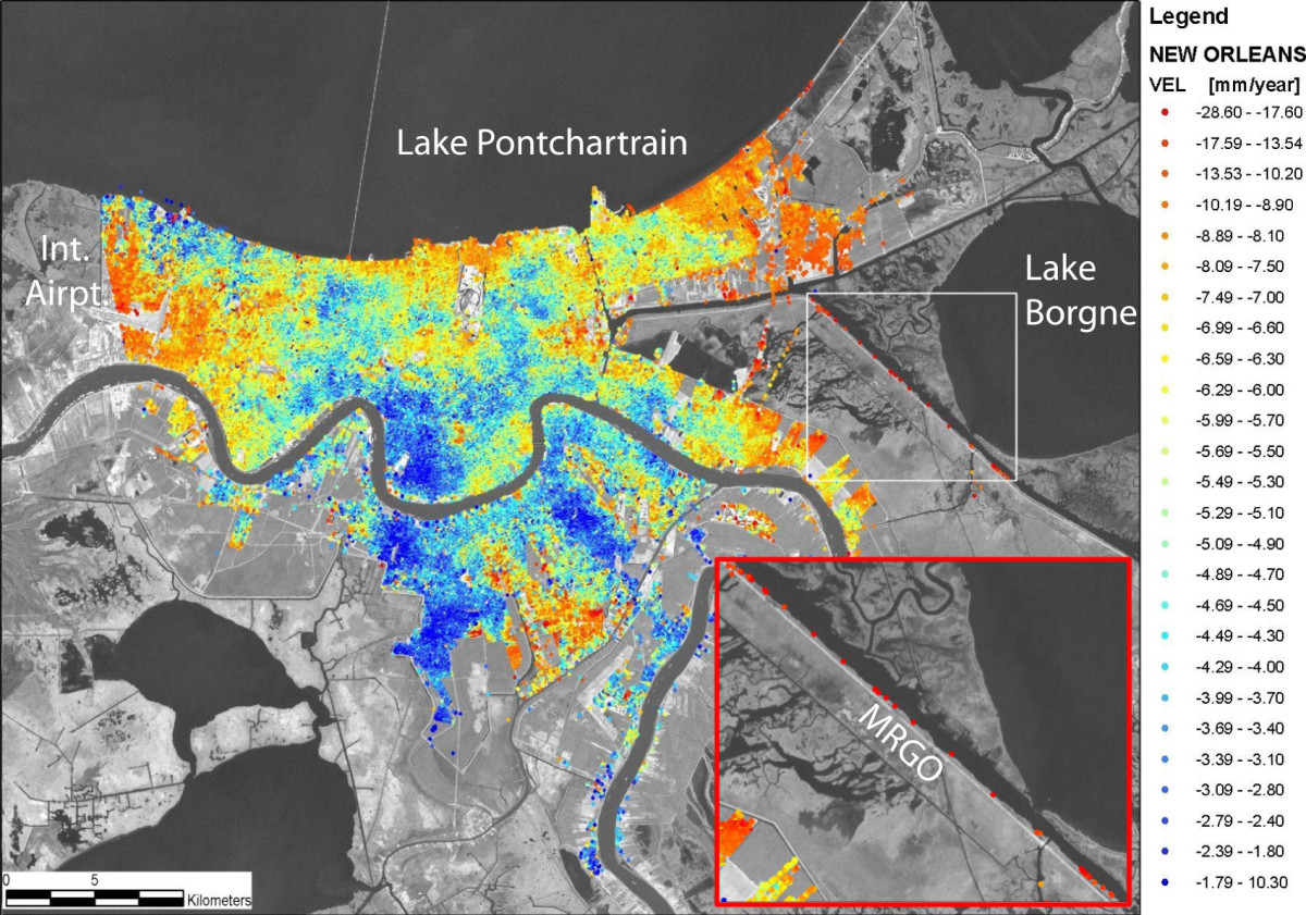 Land Subsidence in New Orleans
