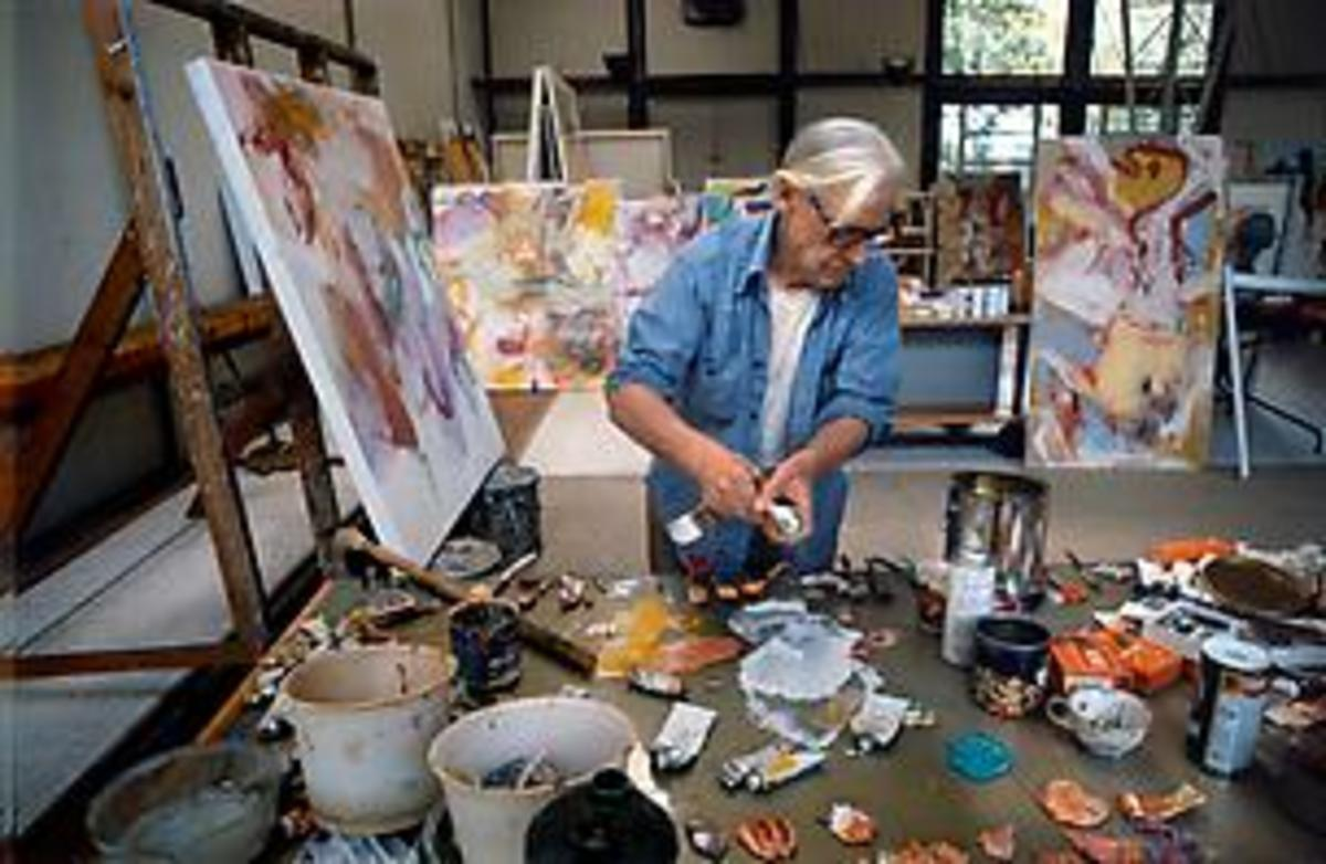Bill working in his atelier
