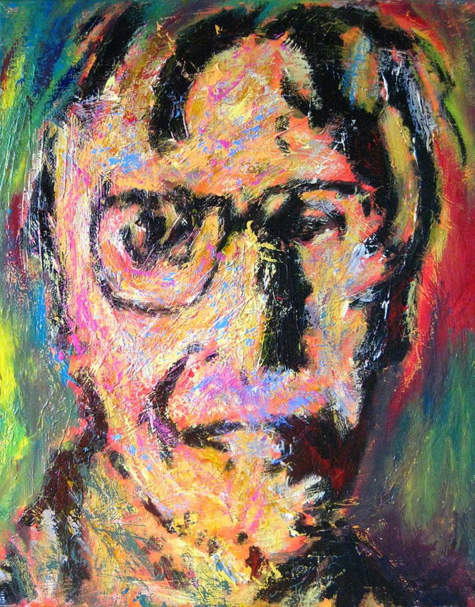 Self-portrait of Willem de Kooning