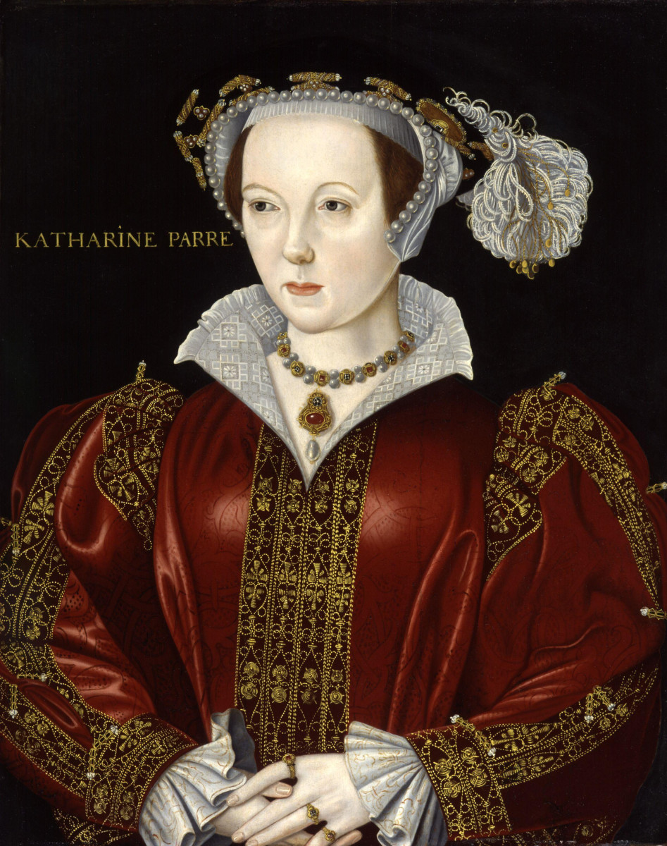 Catherine Parr, Henry's sixth and last wife.  Catherine outlived Henry and remarried after his death.  She was a reformer and argued with Henry about religion.