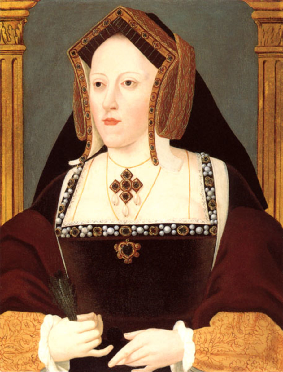 Catherine of Aragon.  It was Catherine's refusal to be cast aside so that Henry could marry a new queen, and the Pope's backing of her position, that ultimately led to Henry separating the Church of England from the Church of Rome.