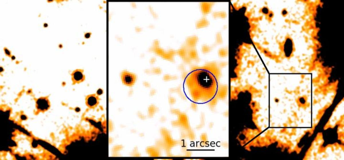Infrared image of RX J0806.4-4123 - an infrared pulsar?