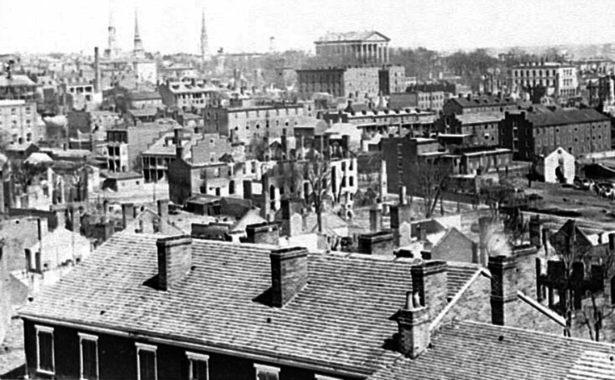 View of Richmond from Gambles Hill, April 1865